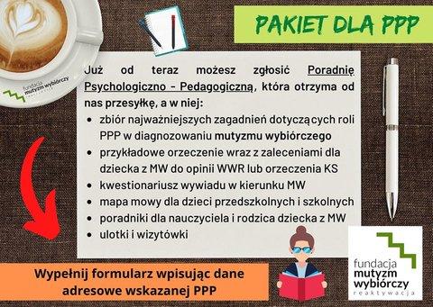 """Projekt dla poradni psycholgiczno-pedagogicznych pn. """"Pakiet dla PPP"""""""